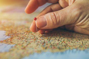mapa świata wybieranie miejsca podróży